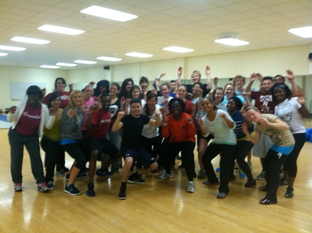 Celebrating my dedicated, fit and talented Kinsiology 1001 students, Temple University, Fall, 2012!